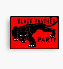 THE BLACK PANTHER PARTY Canvas Print