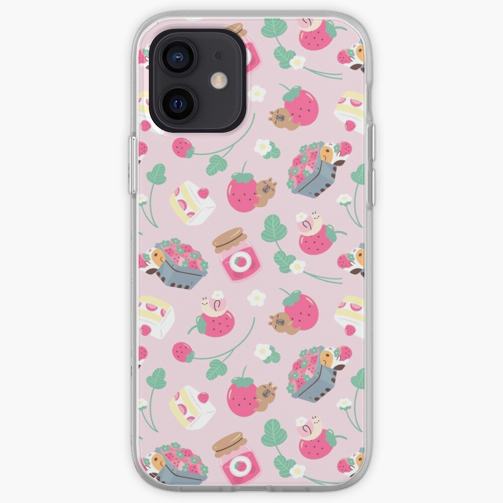 Bubu and Moonch Strawberry Season Pattern iPhone Case & Cover