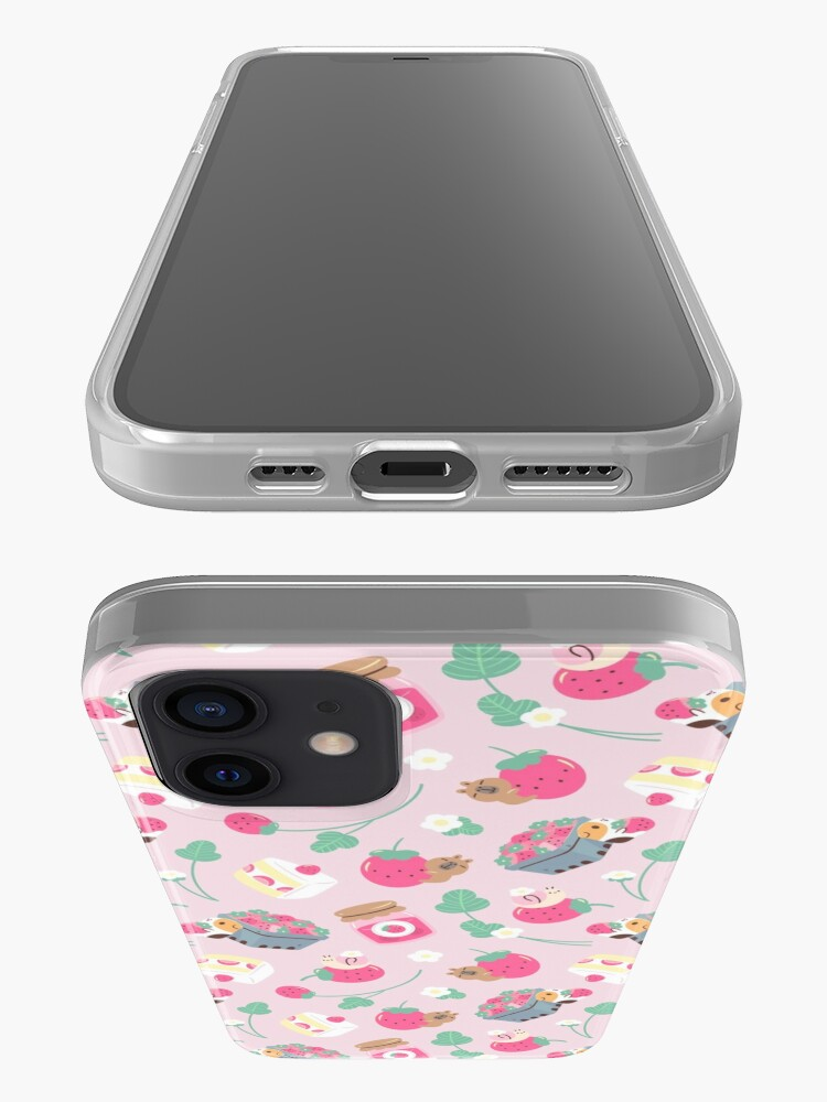 Alternate view of Bubu and Moonch Strawberry Season Pattern iPhone Case & Cover