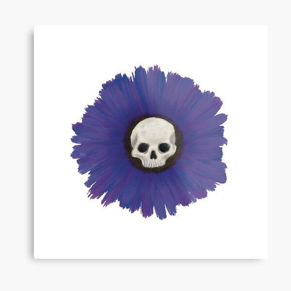 Skull Flower - Purple Metal Print