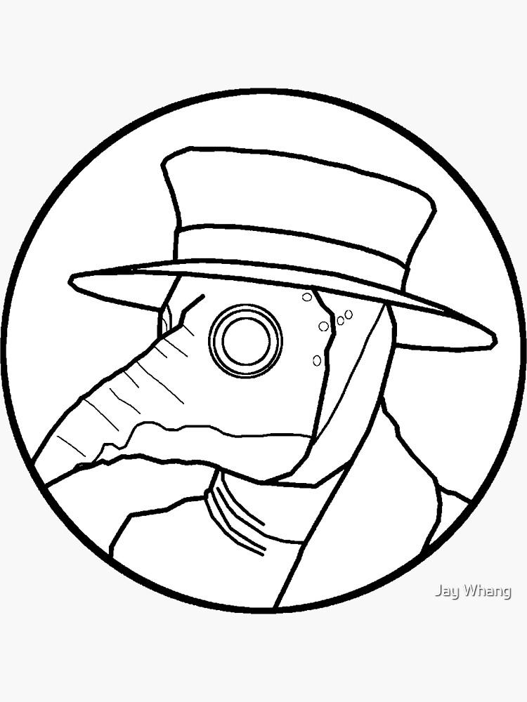 Plague Doctor Circle (White) by Jay-Whang-Arts