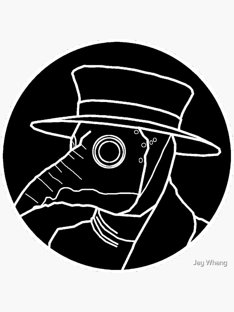 Plague Doctor Logo (Black) by Jay-Whang-Arts