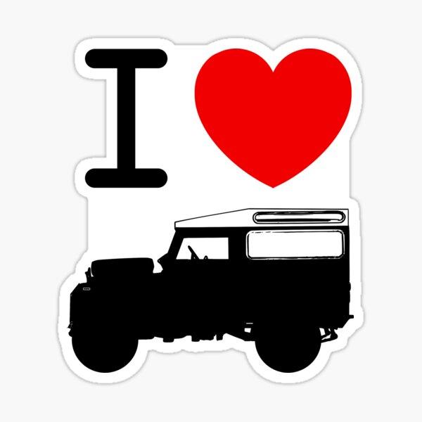 I Love Land Rover Sticker