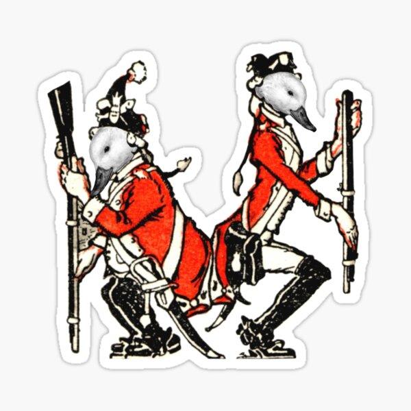Two Duck Men Squatting Sticker