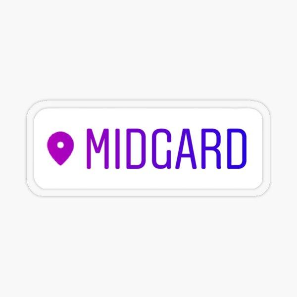 Loki Midgard Standort-Tag Transparenter Sticker