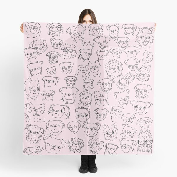 Pink- Griffons (no text) Scarf