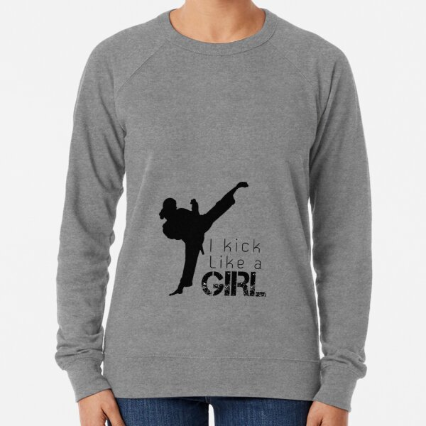 Kick Like a Girl Lightweight Sweatshirt