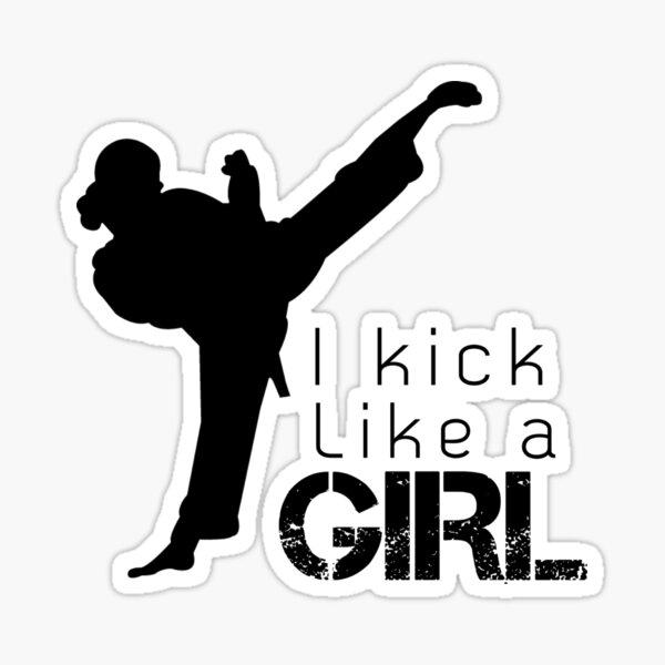 Kick Like a Girl Sticker