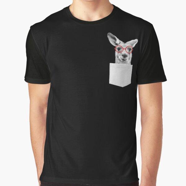 Kangaroo pocket, Funny Kangaroo, aussie t shirt, australia shirt, funny shirts, cool t shirt, koala bear, australian animals, kangaroo pouch Graphic T-Shirt