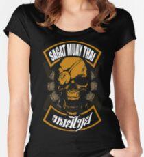 Sagat Muay Thai Fighter  Thailand Martial Art Women's Fitted Scoop T-Shirt