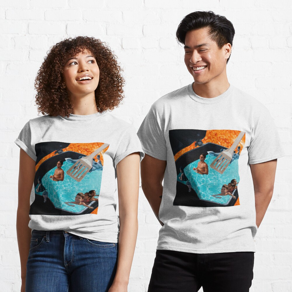 Warm Swimming Pool of Summer (Collage Art) Classic T-Shirt