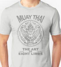 muay thai garuda sacred spirit of thailand the art of eight limbs Unisex T-Shirt