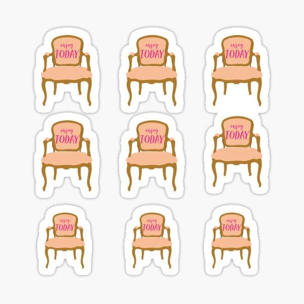 Pink Vintage Chair  Sticker
