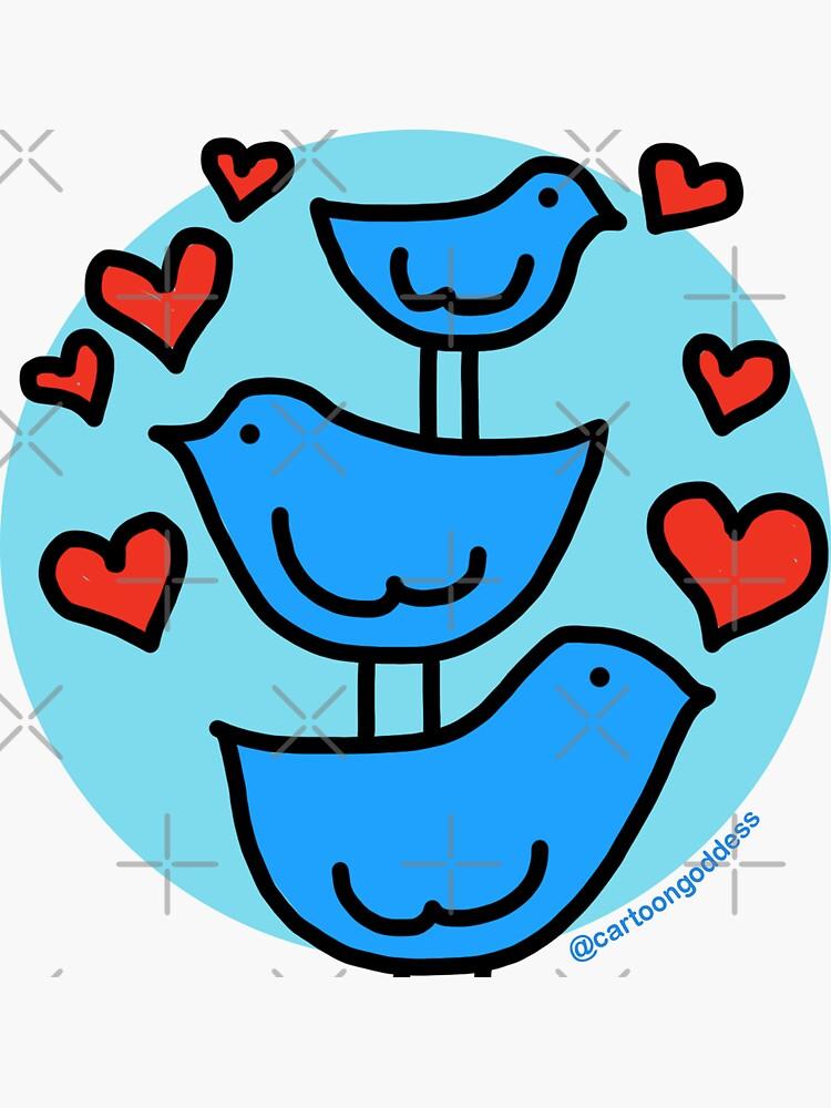 Love Birds by cartoongoddess