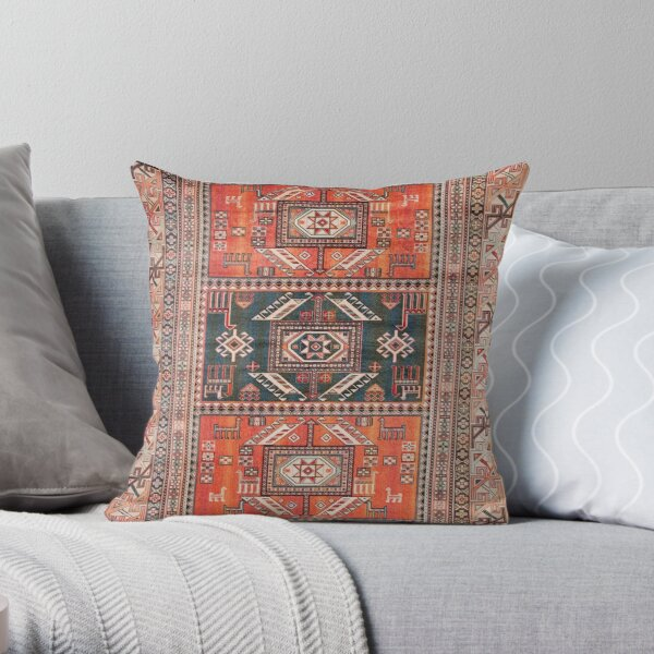 Oriental Heritage Traditional Vintage Moroccan Style Throw Pillow