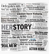 Hillary Clinton Historic Headlines Poster