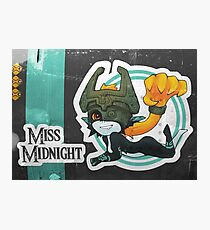 Miss Midnight Photographic Print