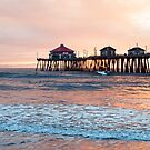 Huntington Beach Pier, Winter Swell by ImageryD