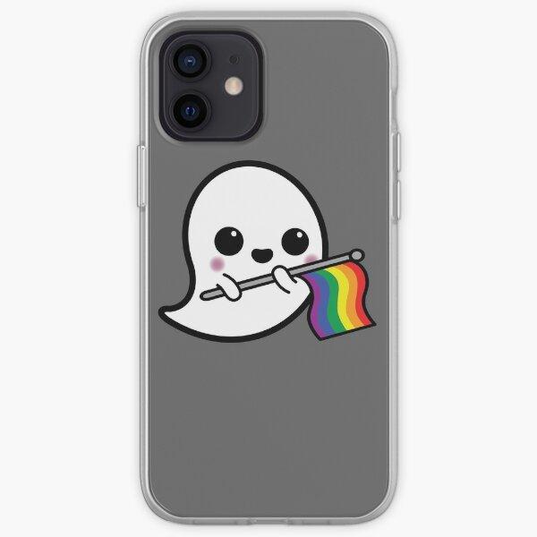 Fantasma del orgullo del arco iris Funda blanda para iPhone