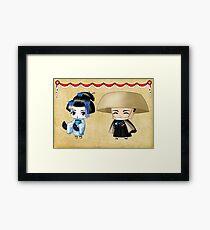 Japanese Chibis Framed Print