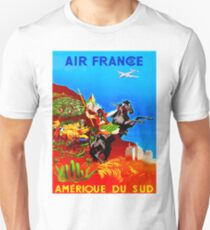 AIR FRANCE :  Vintage Fly to South America Print T-Shirt