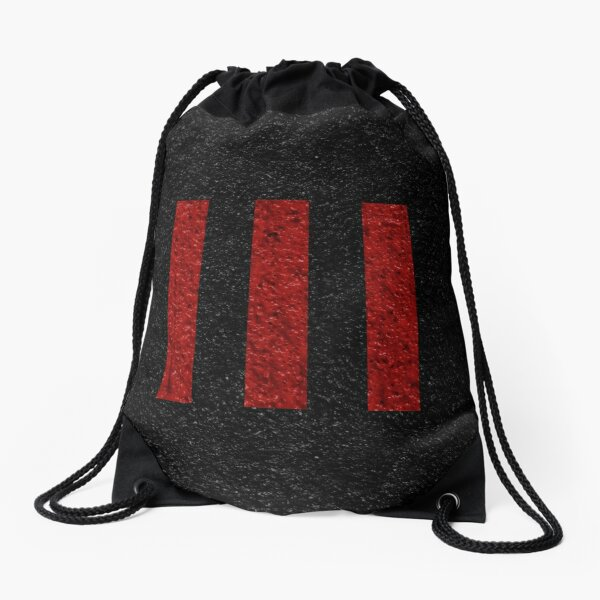 Three Strikes Drawstring Bag