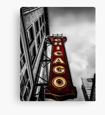 Iconic Chicago Theater Sign Canvas Print