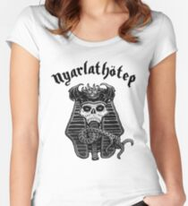 Nyarlathotep - Black and White Women's Fitted Scoop T-Shirt