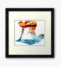 Surfing White Version Framed Print