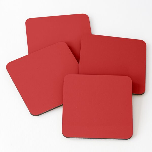 Apple   Red Coasters (Set of 4)