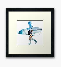 Surfer white version Framed Print