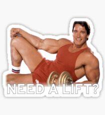 Arnold Schwarzenegger - Need A Lift? Sticker