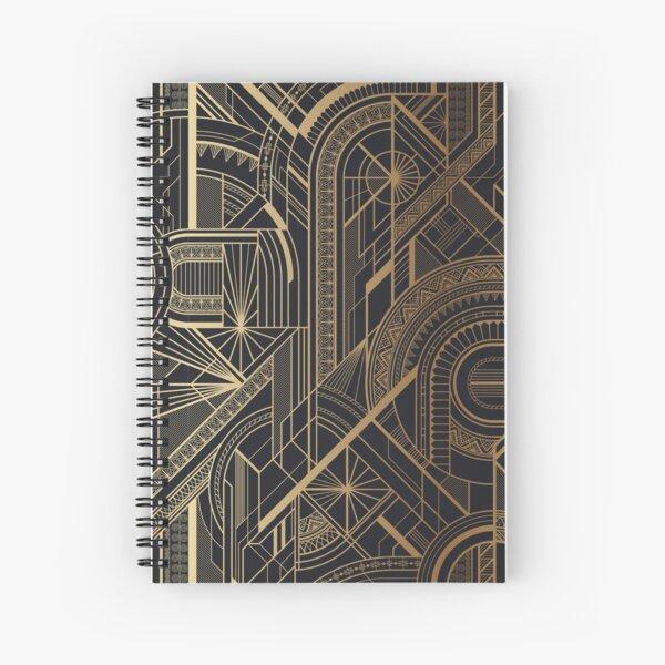 City Gold Spiral Notebook