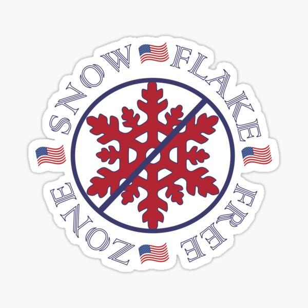 Snowflake free zone America Sticker