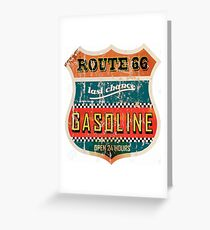 Route 66 Gasoline vintage sign Greeting Card