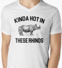 Ace Ventura Quote - Kinda Hot In These Rhinos Men's V-Neck T-Shirt