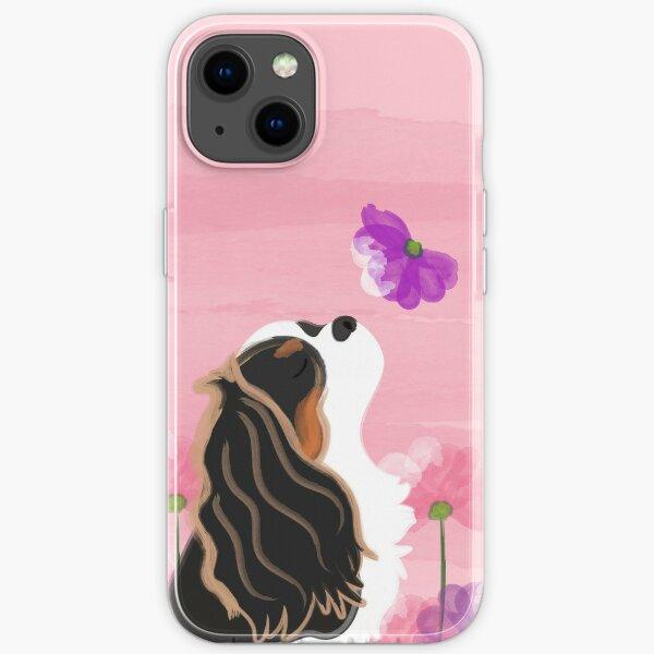 Romantique Cavalier King Charles Spaniel - Tricolore Coque souple iPhone