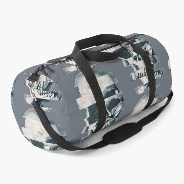 Glitch Skull Mono  | Skull gift Duffle Bag