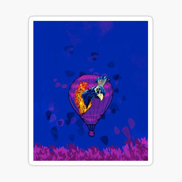 Legakulie Ballon Vogel lila blau Sticker