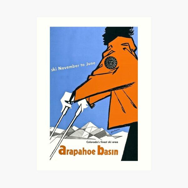 Arapahoe Basin, ski Art Print