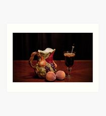 Pitcher of Peach Tea  Art Print