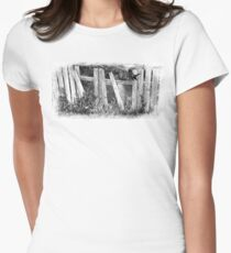 Bird On The Fence Womens Fitted T-Shirt