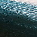 Summer Sunset Blue Waves by AlexandraStr