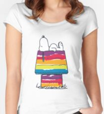 rainbow snoop Women's Fitted Scoop T-Shirt