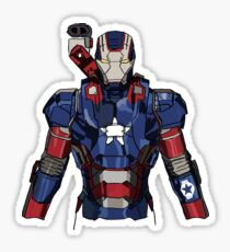 Iron Patriot Suit Sticker