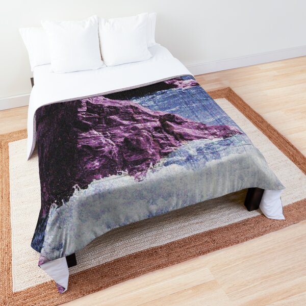 Retro Landscape Vaporwave Style Comforter