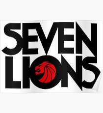 7 lions Poster