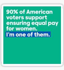 equal pay Sticker