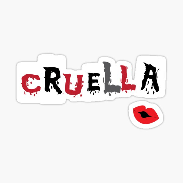 My Name is Cruella Sticker