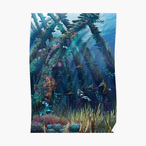 Subnautica Ocean Exploration Gaming Poster